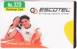INDIA A-016 Prepaid Escotel - People, Couple - Used - India