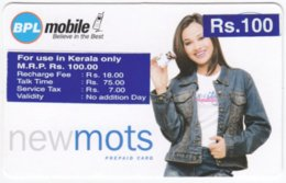 INDIA A-018 Prepaid BPL - People, Woman - Used - India