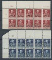 ITALIENISCH-SOMALILAND 71A,72C **, 1925, 60 C. Und 1 L. 25 Jahre Regentschaft In Postfrischen 10er-Blocks Aus Der Linken - Somalia