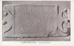 Postcard  Corstopitum Inscription [ Corbridge ] Roman Hadrian's Wall Interest PU 1943 To Alnwick PO My Ref  B13500 - Ancient World