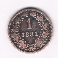 1  KREUZER 1881  OOSTENRIJK /5894/ - Autriche