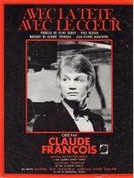 PARTITION CLAUDE FRANCOIS - AVEC LA TETE AVEC LE COEUR - 1968 - BON ETAT - - Autres
