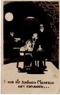Hab Die Schönen Maderln Net Erfunden - Trinkgelage Feier Bei Nacht Nachtschwärmer 1944 Feldpost - Feiern & Feste