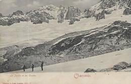 74, Haute Savoie, CHAMONIX, Le Jardin Et Les Courtes, Scan Recto Verso - Chamonix-Mont-Blanc