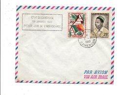 CAMEROUN LETTRE DU 1/1/1960 JOUR DE L'INDEPENDANCE - Cameroun (1960-...)