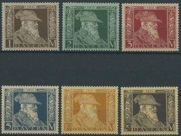 BAYERN 86-91II **, 1911, 1 - 20 M. Luitpold, Type II, Postfrisch, 6 Prachtwerte, Mi. 276.- - Bayern