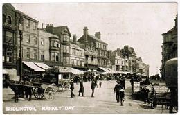Old Postcard  Bridlington Market Day (pk59849) - Royaume-Uni