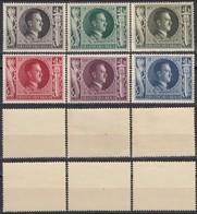 Germany 1943 - Adolf Hitler's 54th Birthday Stamps, MiNr. 844-849 MNH (I). - Ongebruikt