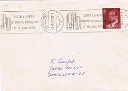 33431. Carta Barcelona 1979. Rodillo Feria De Muestras. FIB - 1931-Hoy: 2ª República - ... Juan Carlos I