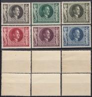 Germany 1943 - Adolf Hitler's 54th Birthday Stamps, MiNr. 844-849 MNH (II). - Ongebruikt