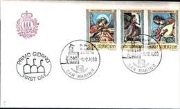 12838a)F.D.C.SERIE COMPLETA SAN MARINO    9-12-88 - FDC