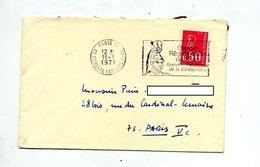Lettre  Flamme Paris 14 Garde Republicaine - Marcophilie (Lettres)