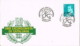 33432. Carta Barcelona 1981. 50 Aniversario UEC, Union Excursionista De Catalunya - 1931-Hoy: 2ª República - ... Juan Carlos I
