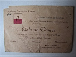 Belgique - Spa - 1st Army Recreation Center - Invitation Au Gala De Danse Au Trocadéro Club Casino - 1945 - Documents