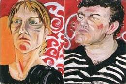 NOS (DIPTICO) 1996, MARISA ROGEL. CENTRO CULTURAL RECOLETA ARGENTINA. ART POSTAL CIRCA 2000 NOT CIRCULATED - LILHU - Pintura & Cuadros