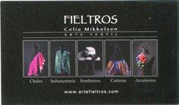FIELTROS, CELIA MIKKELSEN, ARTE TEXTIL ARGENTINA. ART POSTAL CIRCA 2000 NOT CIRCULATED - LILHU - Objetos De Arte