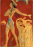 "CNOSSOS - A FRESCO ""THE LITTLE PRINCE"". GRECE ART POSTAL WRITTEN 1978 NOT CIRCULATED - LILHU - Pintura & Cuadros"