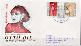 Germany Pair On Used FDC From 1991 - Art