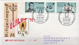 Germany Pair On Used FDC From 1991 - Gas