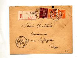 Lettre Recommandee Villejuif Sur Paix Semeuse - Marcophilie (Lettres)