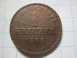 Wurttemberg ½ Kreuzer 1865 - [ 1] …-1871 : Etats Allemands