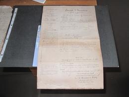 REPUBLIQUE FRANCAISE-BREVET D'INVENTION-13/12/1894-Dél. à PERL John Evariste Pour Etendage Des Bêtes à L'abattoir - Historische Dokumente