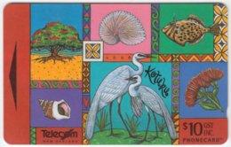 NEW ZEALAND A-383 Magnetic Telecom - Painting, Animals, Plants - 401CO - Used - Nuova Zelanda