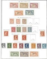 FRANCE NEUFS SUR PAGES 1900 A 1970 - Collections (en Albums)