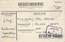 Kriegsgefangenen Post Stalag XIa Geprüft 84576 Eymoutiers 7.1.1941  Gebührenfrei - Allemagne
