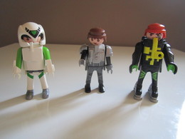 PLAYMOBIL 3 PERSONNAGES AGENT SPATIAL ASTRONAUTE ESPACE - Playmobil