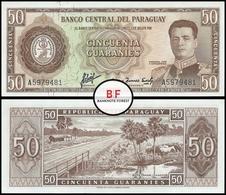 Paraguay | 50 Guaranies | 1963 | P.197a | Sig.2 | UNC - Paraguay