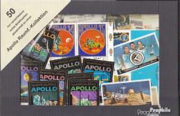 Motive 50 Verschiedene Apollo Raumfahrt Briefmarken - Collections