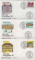 Germany Set On 6 FDCs From 1991 - Post