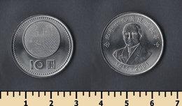 Taiwan 10 Yuan 2001 - Taiwán