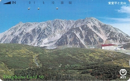 PAYSAGE - MONTAGNE - MASSIF - NATURE - LANDSCAPE - MOUNTAIN - MER - OCEAN - Télécarte Japon - Landschappen