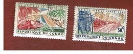 CONGO (KINSHASA) -  SG 494.496  -  1963 EUROPEAN ECONOMIC COMMUNITY AID - USED ° - Repubblica Del Congo (1960-64)