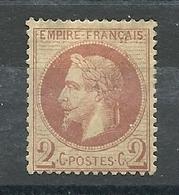 N° 25 NEUF AVEC CHARNIERE - 1863-1870 Napoléon III Lauré