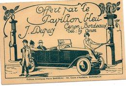 """Carton Pub   LA MOTRICINE     La Reine Des Essences  Cenon  """" Le Pavillon Bleu - Pubblicitari"""