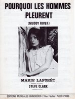 PARTITION MARIE LAFORET - POURQUOI LES HOMMES PLEURENT - 1973 - EXC ETAT PROCHE DU NEUF - - Otros