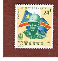 CONGO (KINSHASA) -  SG 601  -  1966 CONGOLESE ARMY: SOLDIER & FLAG  - USED ° - Repubblica Democratica Del Congo (1964-71)