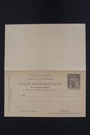 France Carte Pneumatique Avec Response 1896 RP18  Date 928 - Postwaardestukken