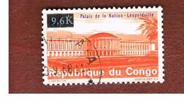 CONGO (KINSHASA) -  SG 653  -  1968  NATIONAL PALACE OVERPRINTED  - USED ° - Repubblica Democratica Del Congo (1964-71)