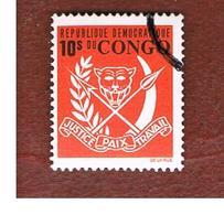 CONGO (KINSHASA) -  SG 680  -  1969 COAT OF ARMS  - USED ° - Repubblica Democratica Del Congo (1964-71)