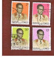 CONGO (KINSHASA) -  SG 686.691  -  1969 PRESIDENT MOBUTU  - USED ° - Repubblica Democratica Del Congo (1964-71)