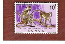 CONGO (KINSHASA) -  SG 773  -  1971 CONGO MONKEYS: GREEN VERVET  - USED ° - Repubblica Democratica Del Congo (1964-71)