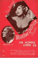 PARTITION MARLENE DIETRICH - UN HOMME COMME CA.. - 1934 - EXC ETAT COMME NEUF - - Otros