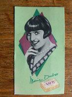 CARTE PARFUMEE +CINEMA:CARTE DU SAVON DE TOILETTE LUX PROMOTIONNEE PAR MARIE DUBAS REINE DE L'ECRAN - Anciennes (jusque 1960)