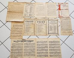 PARTITIONS: Lot De 10 Partitions. Toutes Différentes. Voir Les Scans - Musique & Instruments