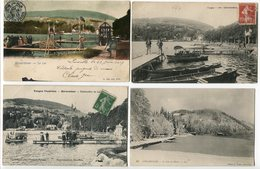 LOT 8 CP GERARDMER Le LAC Ponton Embarcadère (animées) En Hiver Vue Sur Le Lac (3 Pionnières) - Gerardmer