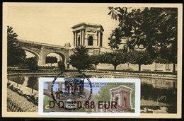FRANCE (2019). Carte Maximum Card - ATM LISA 92 Congres FFAP - Montpellier - Château D'eau Peyrou, Aqueduc Saint-Clément - 2010-...
